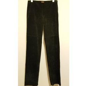 Danier black suede pants